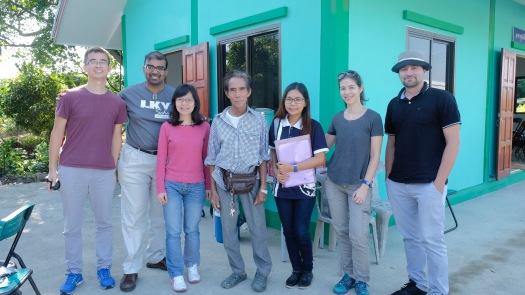 Our team at the San Pa Tong agricultural cooperative, with one of the rice farmers we interviewed