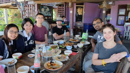 Lunch break with our Thai student translators