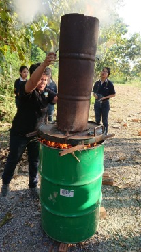 In progress...production of biochar