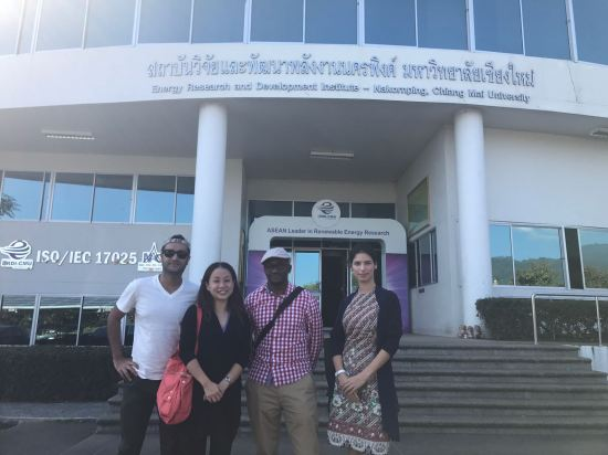 Our first visit - the Energy Research and Development Institute, Chiang Mai University