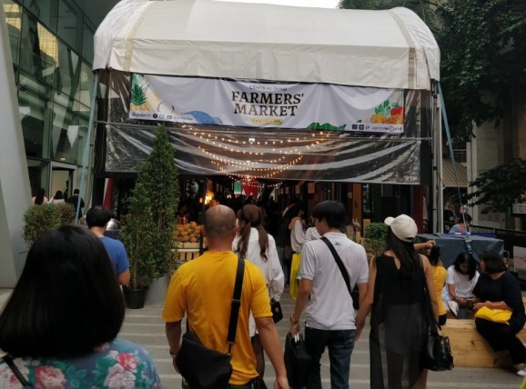 Weekly Farmers' Market in Bangkok showcasing Organic Farm Products from Farmers in Thailand