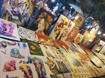 Art in Chiang Mai night market