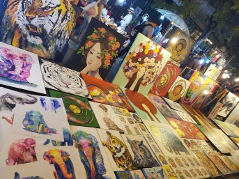 Art in Chiang Mai night market