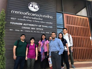 At Tourism Authority of Thailand Office at Chiang Mai