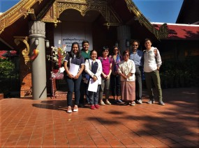 With Ms. Wipa Chaiboon, Local Tour Guide at Wiang Khumkam, Thawangtan District after the meeting