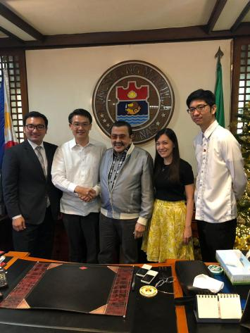 GSP group working on E-tricycles met with Manila Mayor and Former President Joseph Estrada