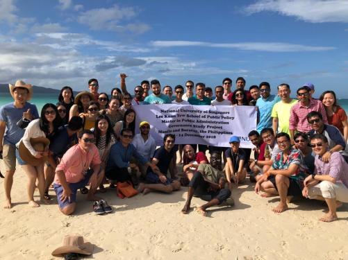 MPA students in Boracay Island